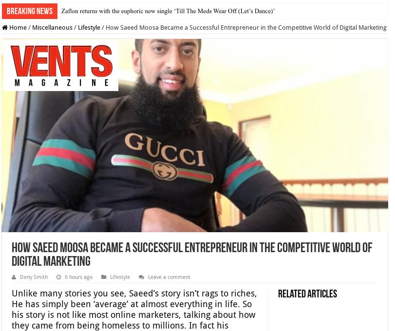 Saeed Moosa Marketing Expert