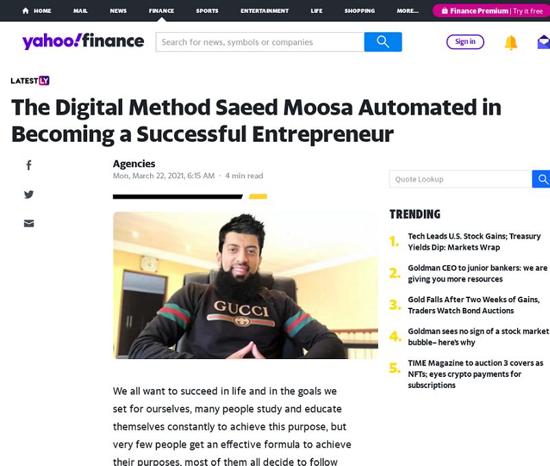 Saeed Moosa Digital Marketing Training